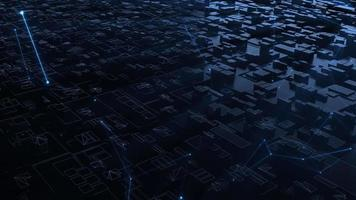 digital won technology and big computing concept video