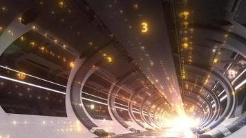 Bitcoin Cryptocurrency Long Tunnel mit Servern zur Berechnung großer Datenmengen video