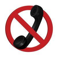 phone classic design icon vector