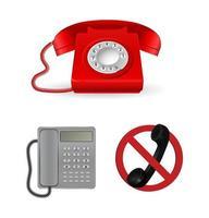 phone classic design vector