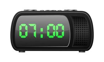 radio clock icon vector
