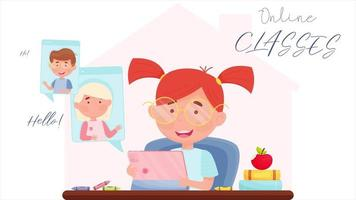 Learn from home animation video