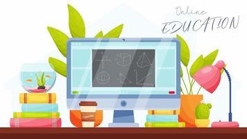 animazione educativa in linea video