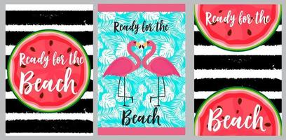 Beach towels design template vector