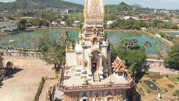 Tourists visiting the buddhist Wat Chalong temple in Phuket, Thailand video