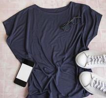 Stylish female clothes set photo