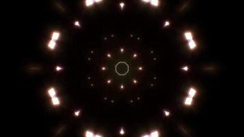boucle de lumière chaude fractale abstraite 4k video