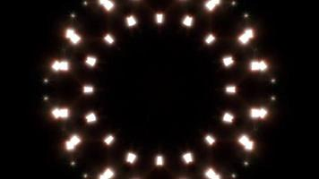 Abstract Fractal Warm Light Loop 4K video