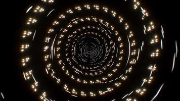 Fondo de brillo de partículas de remolino de línea abstracta 4k video