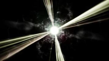abstrait brillant fond d'énergie sombre 4k video