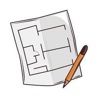 construction blueprint pencil vector