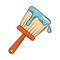 construction brush color vector