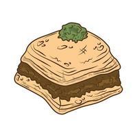 arabian food baklava vector