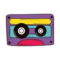 Doodle de cassette retro vector