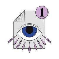retro futuristic icon vector