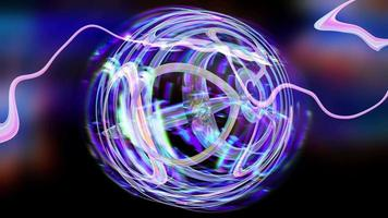 Abstract iridescent background texture sphere video