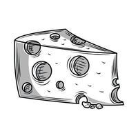 rebanada de queso vector