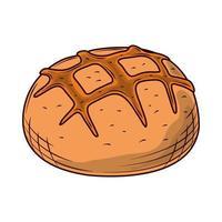 bread bun baked vector