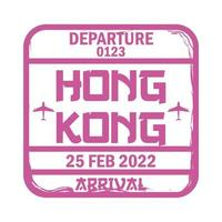 travel stamp sign vector
