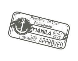 travel stamp design vector