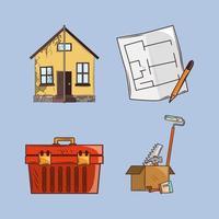 house renovation construction vector