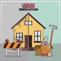 house renovation tools vector