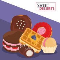 sweet dessert chocolate vector