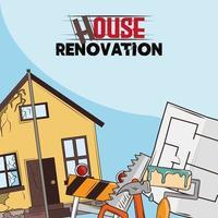 house renovation repair vector