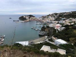 Panoramic view of Ponza the largest island of the Italian Pontine Islands archipelago photo