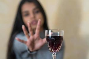 rechazando el enfoque selectivo del alcohol foto