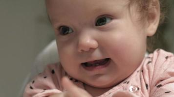 The face of a cheerful little girl video