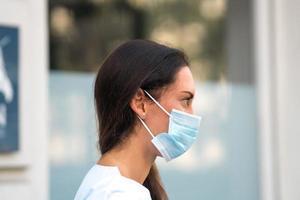 Woman doctor profile portrait photo