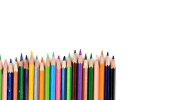 lápices de colores viejos foto