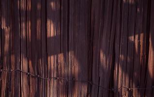 Empty wooden wall with shadow form tree texture background photo
