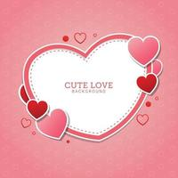 Cute love background with Fluid gradient shapes vector