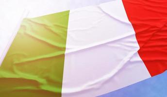 Italy flag on the blue sky photo