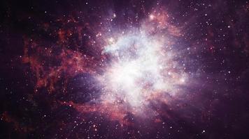 animazione ciclo cosmo nebulosa spaziale video