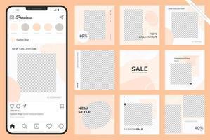 Social media advertisement template vector