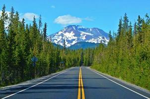 Cascade Lakes Highway and South Sister peak Cascade Range near Bend OR photo