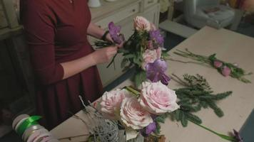 Bouquet Being Made from Materials video