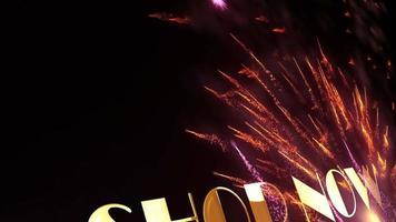 SHOP NOW Gold Text Sparkles Glitter Firework Loop video
