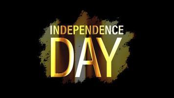boucle de brillance de la lumière de l'insigne d'or de la fête de l'indépendance isolée video
