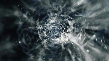 vol dans une boucle d'hyperespace chromé noir et blanc video