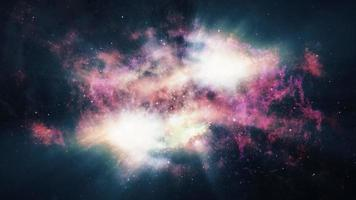 viagem abstrata pela supernova celestial video