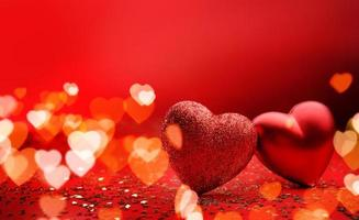 Festive background for valentines day with copy space photo