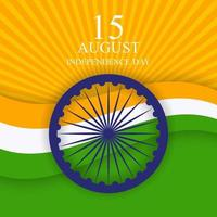 15th August India Independence Day celebration background vector