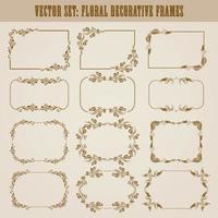 decorative frame background Design vector