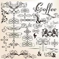 Collection of calligraphic vector decorative elements