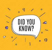 Interesting Fact Background Did you know question vector