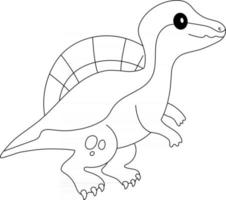 Spinosaurus Kids Coloring Page Great for Beginner Coloring Book vector